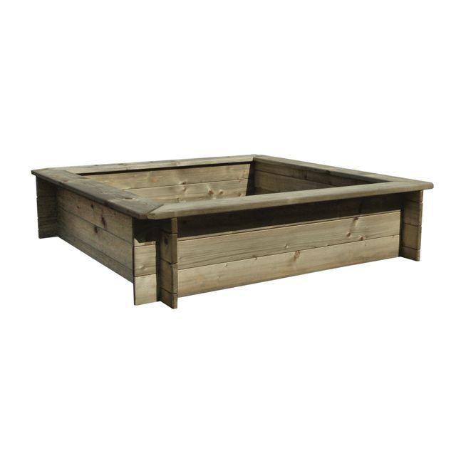 marque generique carr potager en bois de pin 1 2 pas. Black Bedroom Furniture Sets. Home Design Ideas