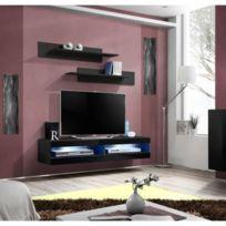 Beau Price Factory   Meuble Tv Fly Design, Coloris Noir Brillant. Meuble  Suspendu Moderne Et