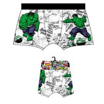 Marvel Comics - Marvel Boxer Homme Coton Hulk Héros Blanc