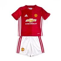 Adidas - Tenue Jr Manchester United Domicile mini 2016-2017 real red-White Taille 4