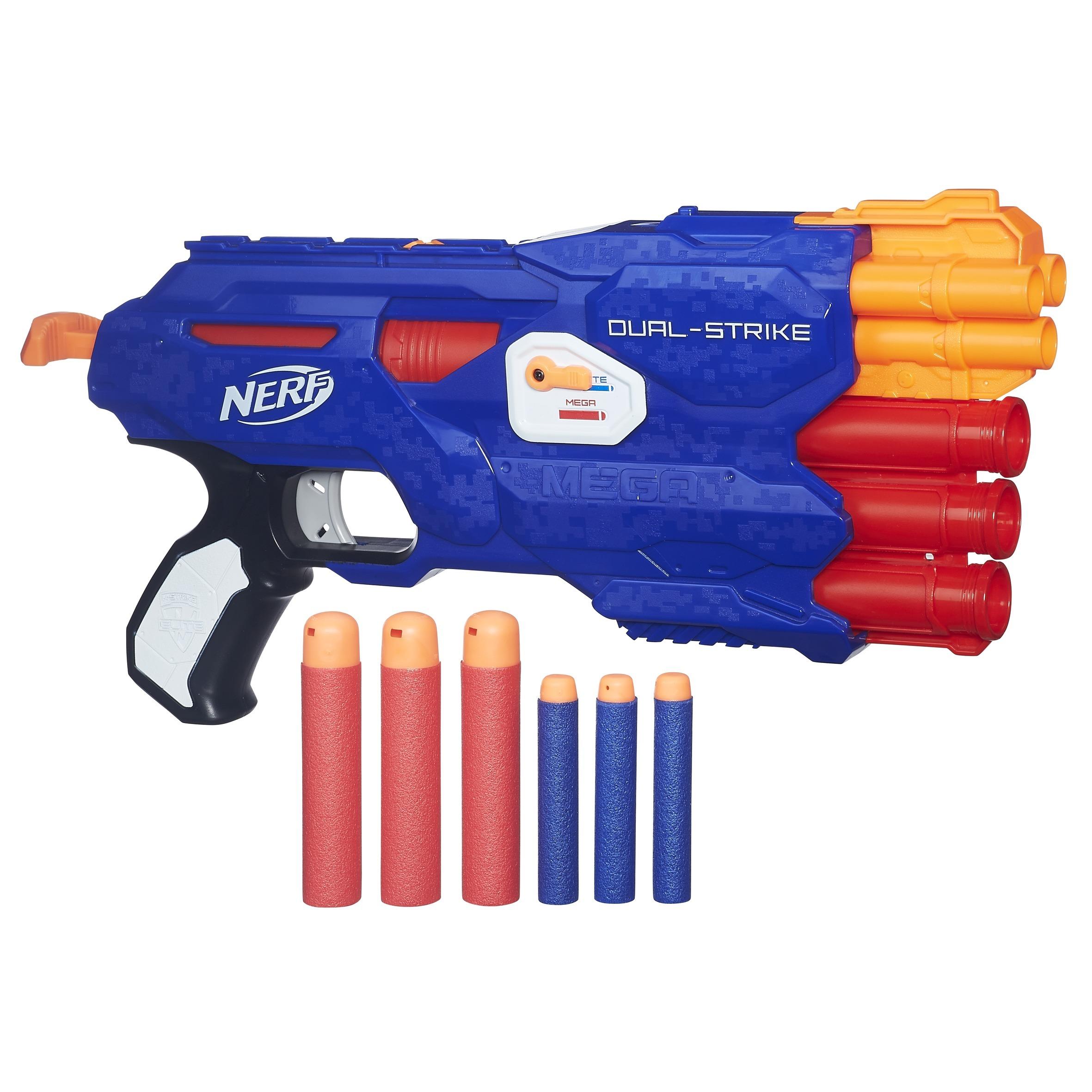 nerf pistolet elite dual strike b4620eu40 pas cher achat vente jeux d 39 adresse. Black Bedroom Furniture Sets. Home Design Ideas