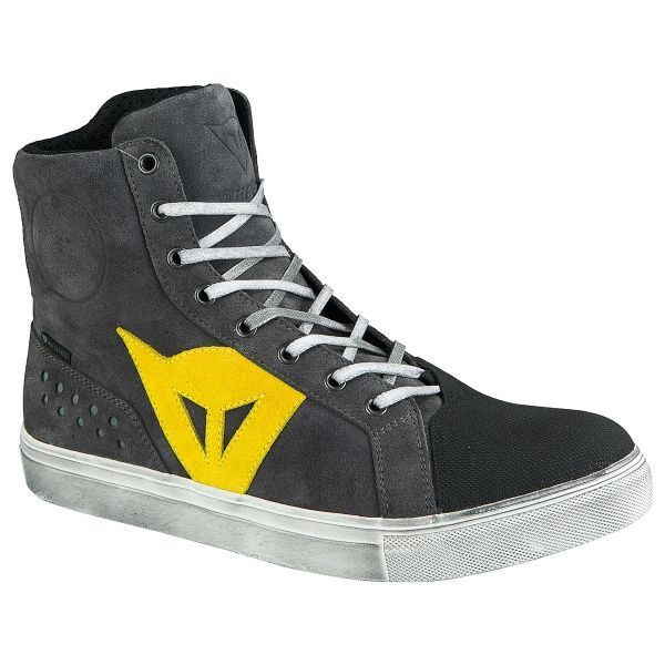 DAINESE Street Biker D WP Anthracite Yellow pas cher