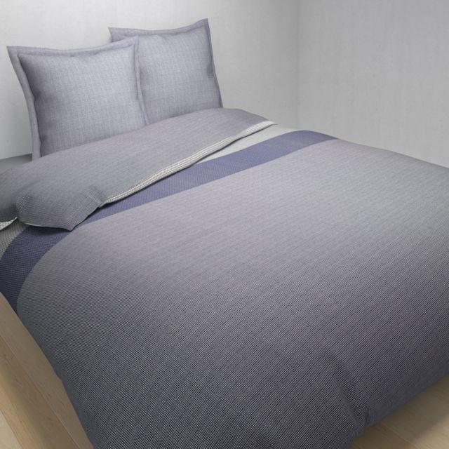 tex home parure mix and match housse de couette 2 taies d 39 oreiller en coton pas cher achat. Black Bedroom Furniture Sets. Home Design Ideas