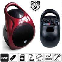 Kool Sound - Enceinte Autonome portable Karaoké 60W Mp3 Usb/SD
