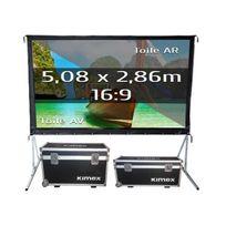 Kimex - Ecran de projection valise 5,08 x 2,86m, format 16:9, Toile Avant + Toile Arrière