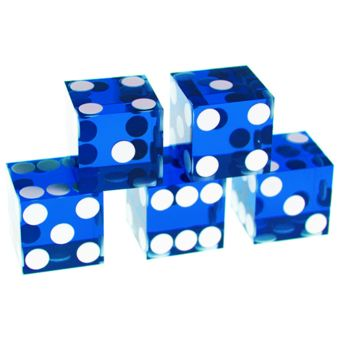 Poker Production - Set de 5 Dés Bleus