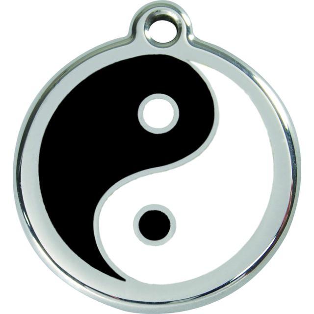 les animaux de la fee m daille chien red dingo yin yang noir 38mm pas cher achat vente. Black Bedroom Furniture Sets. Home Design Ideas