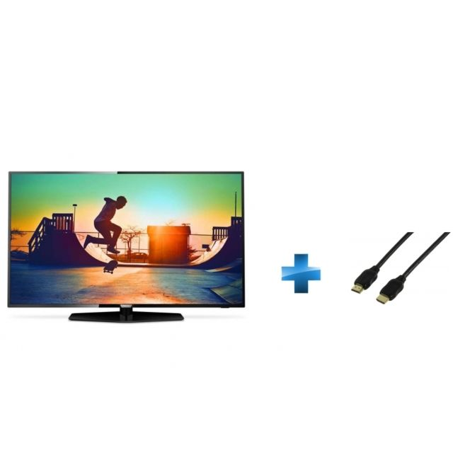 TV LED 43'' - 43PUS6162/12 + Cordon HDMI 1.4 - 1.5 mètres small