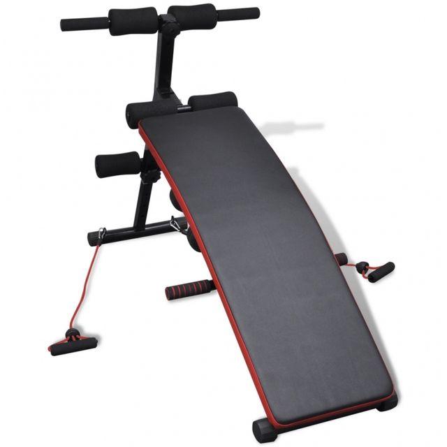 CASASMART Banc de musculation réglable avec élastiques et