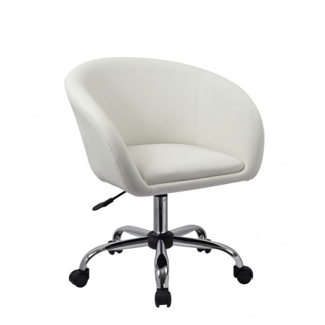 tabouret Decoshop26 Fauteuil chaise bureau de à roulette qALc34Rj5