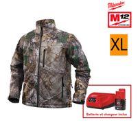 Milwaukee - Veste chauffante camouflage M12 Hj Camo4-0 taille Xl 4933451599 - Batterie M12 2.0Ah et chargeur C12C 4933451900