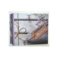 Ariane - Album photo à reliure spirale fleurs romantique nature lovers 60 pages traditionnelles