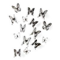 Umbra - Papillon mural à fixer en acétate - Lot de 16 Chrysalis
