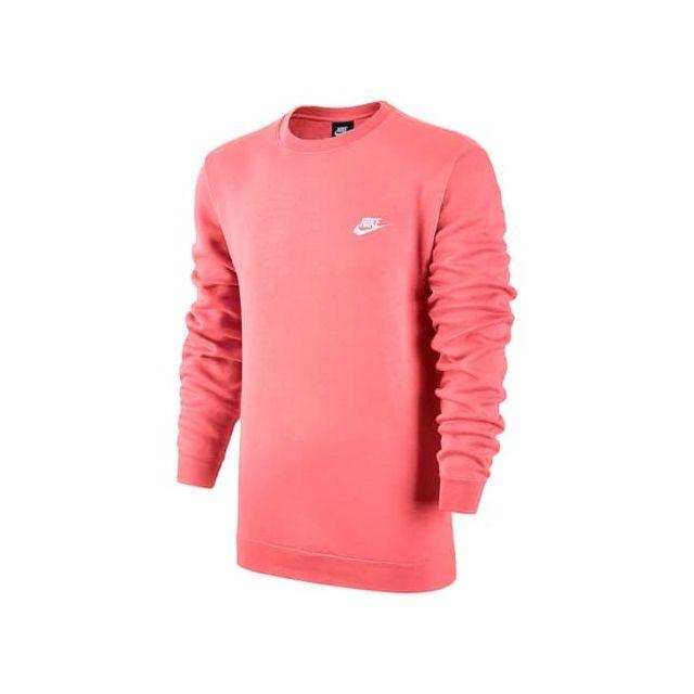 buy best classic style top design Nike - Sweatshirt Sportswear Crew sans capuche rose - pas ...