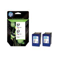 HP - Pack de 2 cartouches d'encre 3 couleurs Cyan, Magenta, Jaune n°57 - C9503AE - 3x17 ml