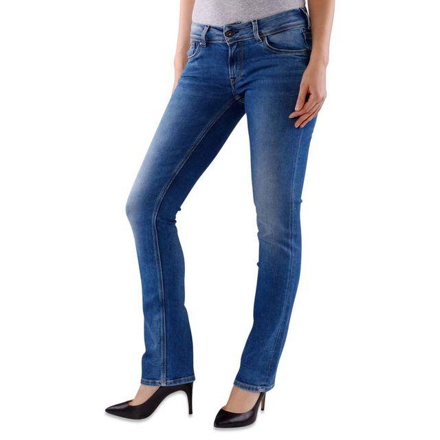 08ee1776962 Pepe Jeans - Jean Regular Saturn - pas cher Achat   Vente Jeans femme -  RueDuCommerce