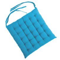 Tiseco Home Studio - Galette de Chaise 40 x 40 cm Turquoise
