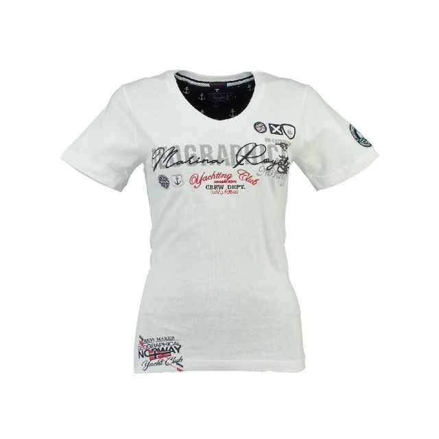 efbc475b24d5 Geographical Norway - T-shirt Femme Jibelule Blanc - pas cher Achat ...