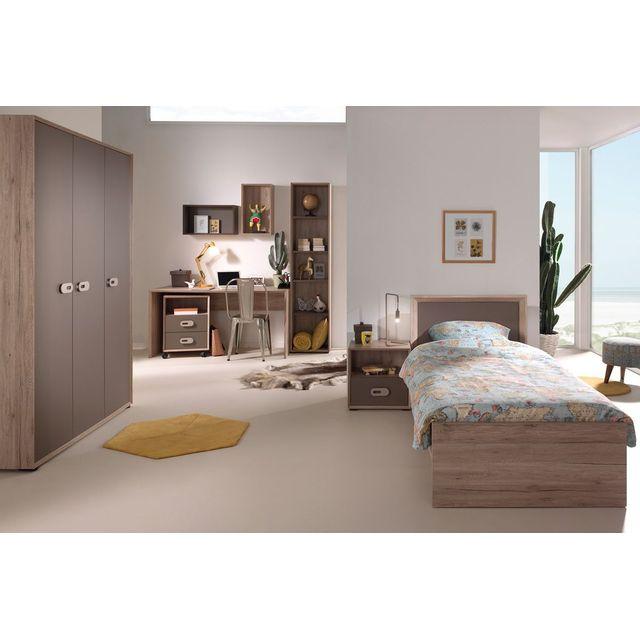 COMFORIUM - Ensemble complet 7 pièces pour chambre moderne avec lit ...