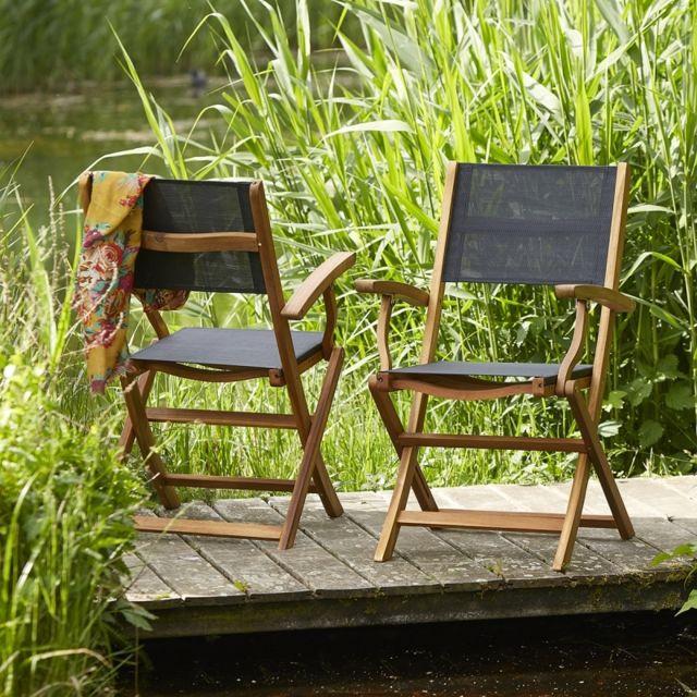 BOIS DESSUS BOIS DESSOUS - Lot de 2 fauteuils pliants en ...
