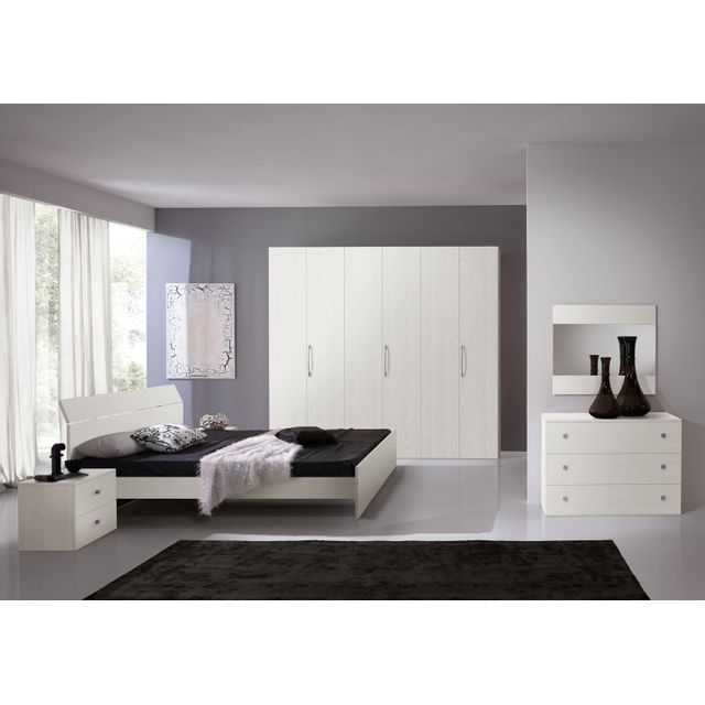 Mennza Chambre adulte complète Ginger blanche C30150B