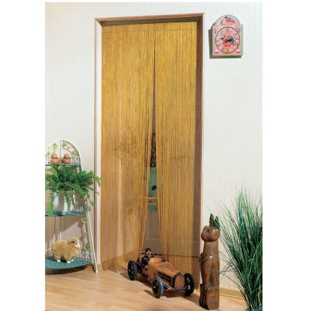 Morel rideau de porte bambou naturel 120x220cm pas cher achat vente rideaux de porte - Rideaux de porte pas cher ...