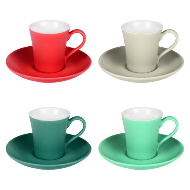 TABLE PASSION COFFRET 4 TASSES CAFE 10CL NUANCE