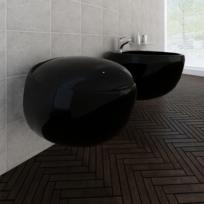 Rocambolesk - Superbe Cuvette Wc suspendue noire et bidet suspendu en  céramique sanitaire noir Neuf c2307cafa0ae