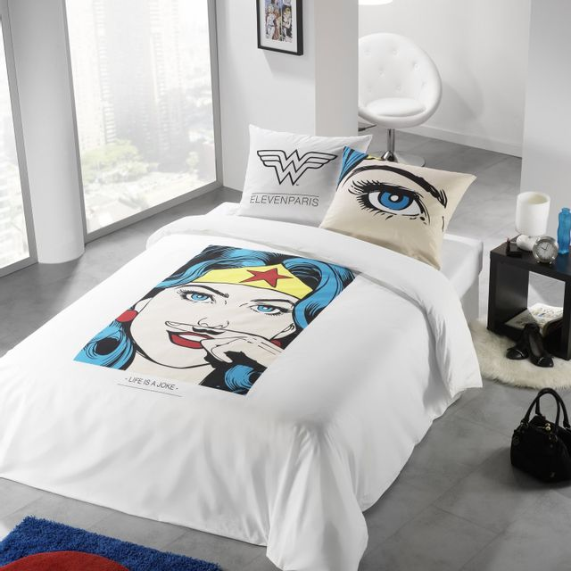 Eleven Paris Housse De Couette Wonder Woman Pas Cher Achat
