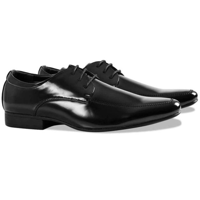 464bb569f1717 Vidaxl - VidaXL Chaussures pour hommes de tenue de soirée Noir Pointure 41