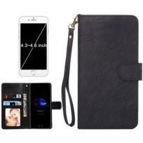 Wewoo - Coque noir pour iPhone 8 & 7 & 6s & 6 & 5 & 5s Se, Samsung Galaxy Siv & Siii, Taille: 13,5 x 7 x 1,8 cm ordinateur portable, housse de protection et cadre magnétique rabat horizontale avec en cuir