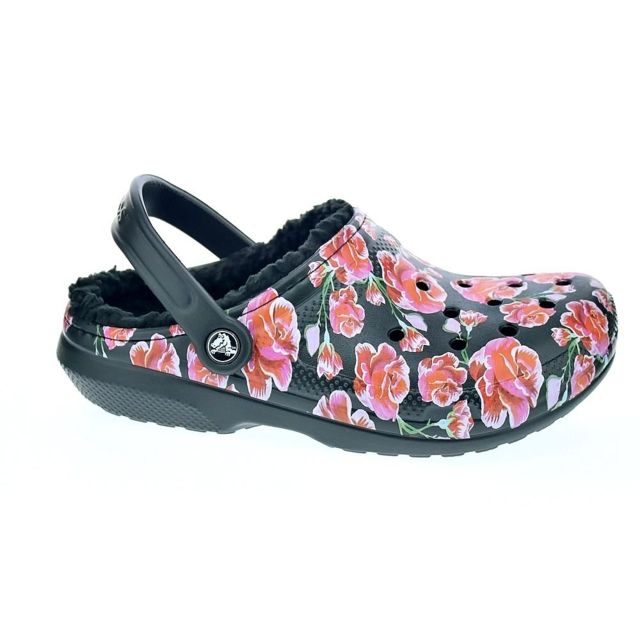 Crocs Chaussures Femme Sabot modele Classic Lined Graphit
