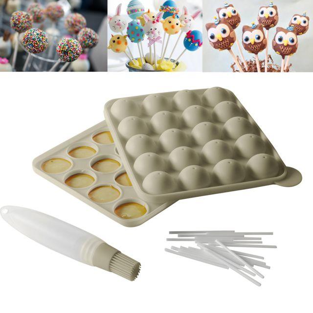 Kitchen Artist Kit moule cakepops bâtonnets et pinceau