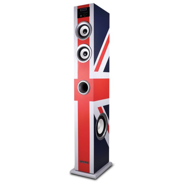 Madison Colonne multimédia amplifiée 100W Fm/USB/SD/BT drapeau Royaume-Uni