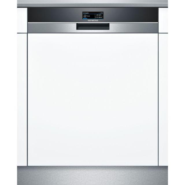 SIEMENS lave-vaisselle 60cm 13 couverts a+++ zéolite intégrable avec bandeau apparent inox - sn578s36ue