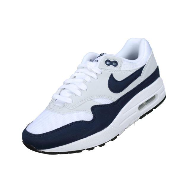Nike - Wmns Air Max 1 319986 - 104 Blanc/bleu 38 1/2 - pas ...