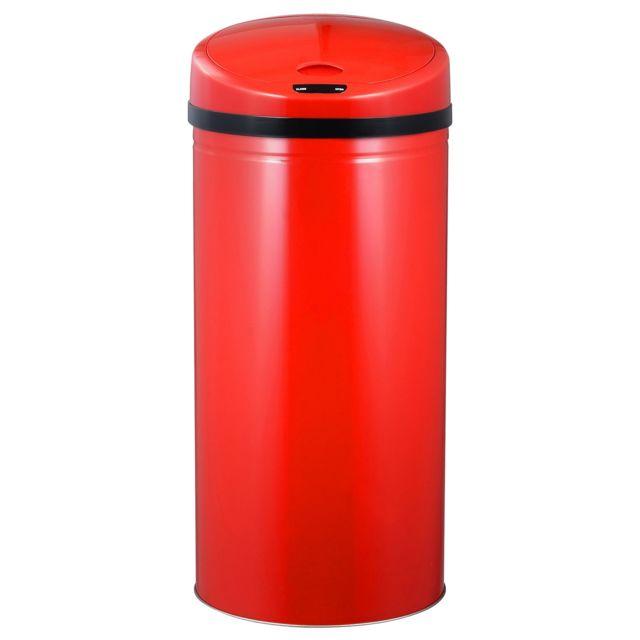ROBBY poubelle à ouverture automatique 50l rouge - upsense rouge 50l