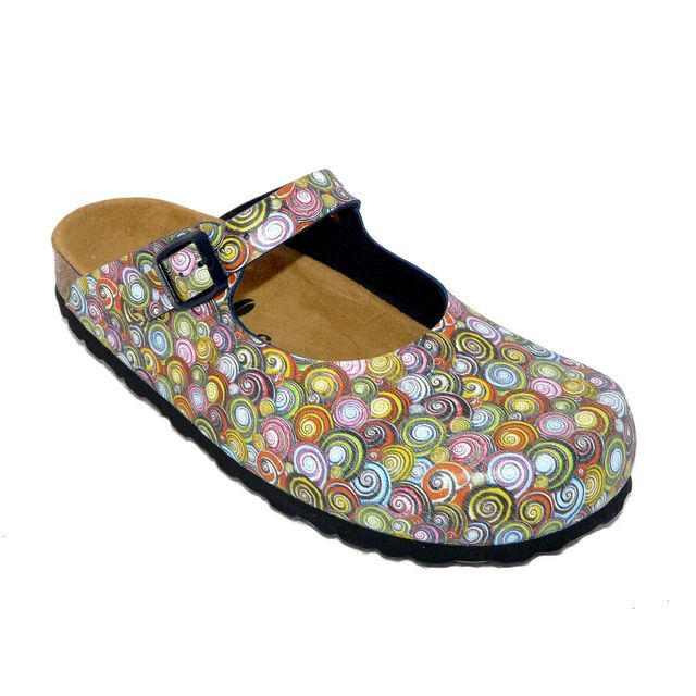 774e7a913a0 Santafe - Sabots femme chaussures été Cuir confort multicolore - pas cher  Achat   Vente Sandales et tongs femme - RueDuCommerce