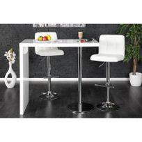 Chloe Design - Table haute design Magno - blanc