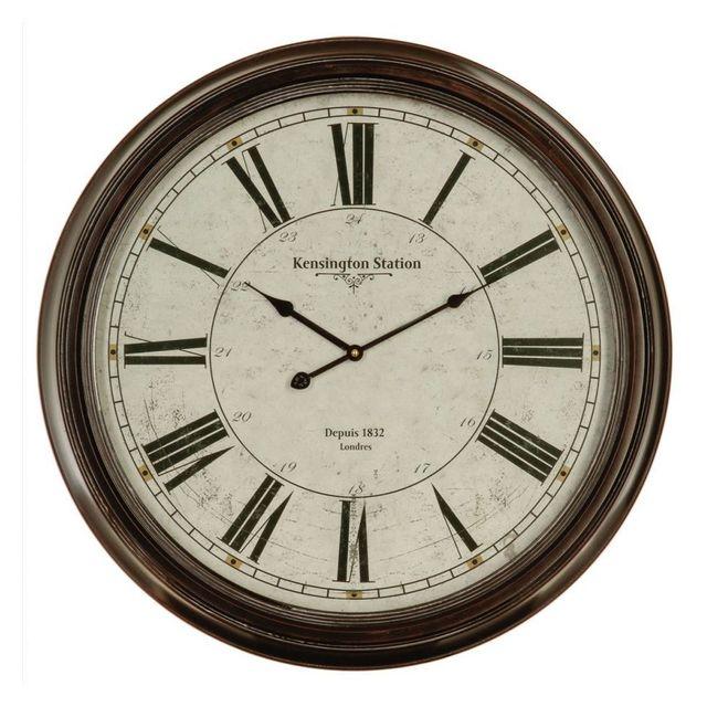 jja le depot bailleul horloge m tal chiffre romain noir vieilli pas cher achat vente. Black Bedroom Furniture Sets. Home Design Ideas