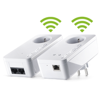 1800 Mbps Pack de 3 x CPL Lea NetSocket1800 Ethernet Gigabit avec Prise gigogne filtr/ée