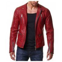 Acheter veste en cuir homme pas cher
