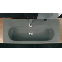 Maison De La Tendance - Vasque à poser sur un meuble de bain 103x33x11 cm en porcelaine - plusieurs couleurs dispo