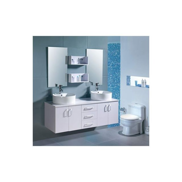 rocambolesk magnifique meuble meuble salle de bain complet vitoria 2 vasque 2miroir blanc. Black Bedroom Furniture Sets. Home Design Ideas