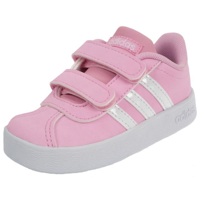 purchase cheap 2aa2f d2421 Adidas Neo - Chaussures scratch Vl court 2.0 cmf Rose 76643 - pas cher  Achat  Vente Baskets enfant - RueDuCommerce