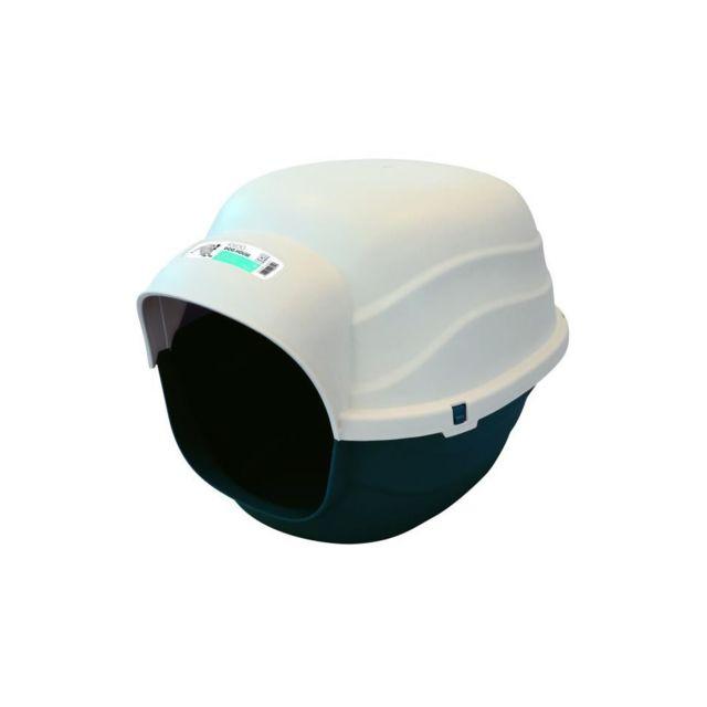 m pets mpets niche en plastique igloo s bleu et beige pour chien pas cher achat vente. Black Bedroom Furniture Sets. Home Design Ideas