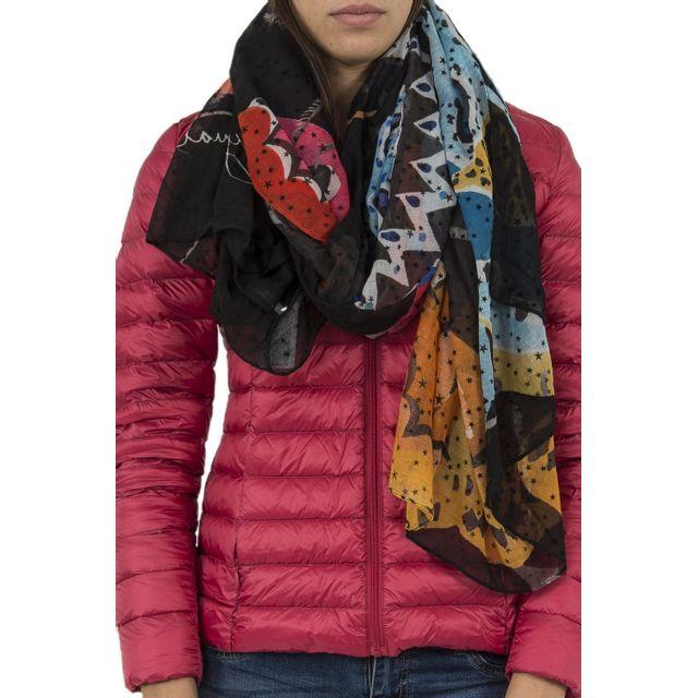 Desigual - Foulards 17wawfh0 winter stripes 1 noir - pas cher Achat   Vente  Echarpes, foulards - RueDuCommerce 9b31d570b5d