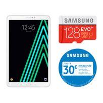 Samsung - Galaxy Tab A6 - 10,1'' Full HD - 16 Go - Wifi - Blanc + MICRO SD EVO PLUS Classe 10 - 128 Go