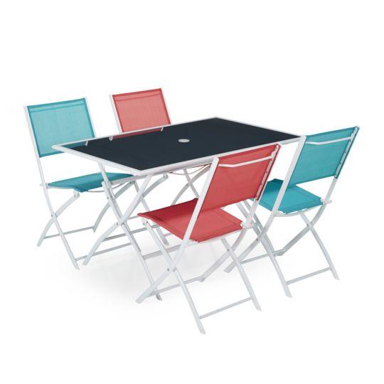 Alinéa - Regal Ensemble 4 chaises et 1 table de jardin - pas cher ...