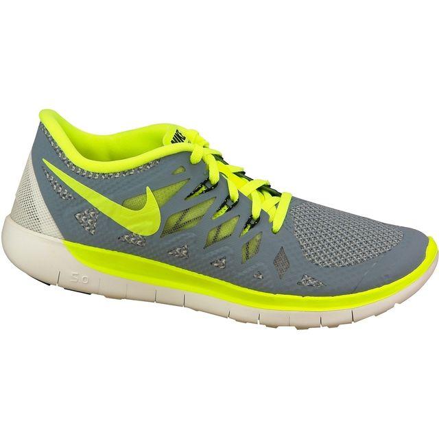 102c4169a915e Nike - Free 5.0 Gs 644428-403 Gris - pas cher Achat   Vente Baskets enfant  - RueDuCommerce